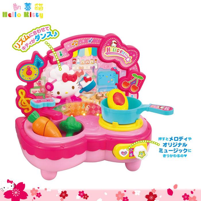 大田倉 日本進口正版 凱蒂貓Hello Kitty廚房玩具組 煮飯 家家酒 流理台 辦家家酒  215323