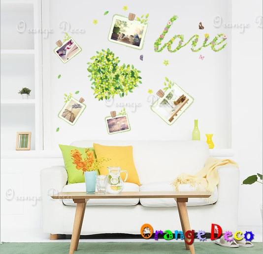 【橘果設計】夜光愛心照片牆 DIY組合壁貼 牆貼 壁紙 無痕壁貼 室內設計 裝潢 裝飾佈置