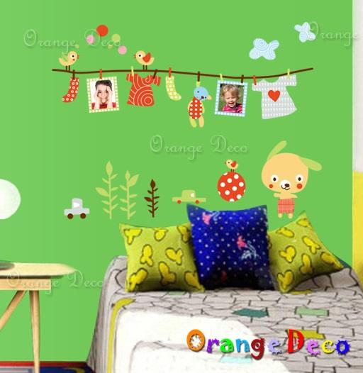 【橘果設計】曬衣架相框 DIY組合壁貼 牆貼 壁紙 無痕壁貼 室內設計 裝潢 裝飾佈置