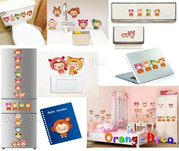 【橘果設計】娃娃 DIY組合壁貼 牆貼 壁紙 無痕壁貼 室內設計 裝潢 裝飾佈置