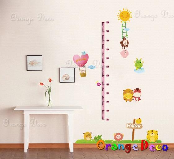 【橘果設計】十二生肖身高尺 DIY組合壁貼 牆貼 壁紙 無痕壁貼 室內設計 裝潢 裝飾佈置