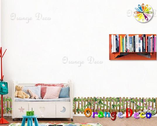 【橘果設計】木柵欄 DIY組合壁貼 牆貼 壁紙 無痕壁貼 室內設計 裝潢 裝飾佈置