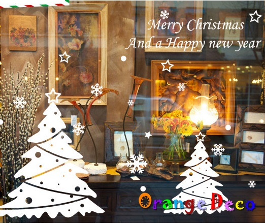 【橘果設計】聖誕樹 DIY組合壁貼 牆貼 壁紙 無痕壁貼 室內設計 裝潢 裝飾佈置