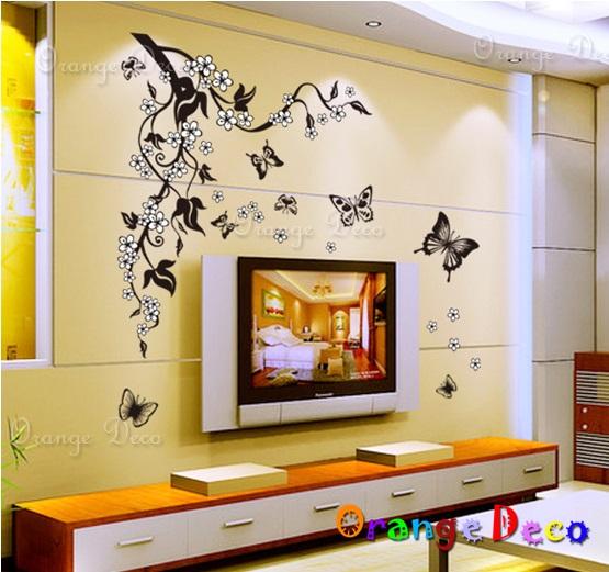 【橘果設計】藝術花藤 DIY組合壁貼 牆貼 壁紙 無痕壁貼 室內設計 裝潢 裝飾佈置