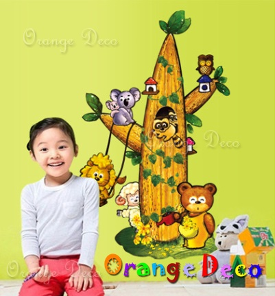 【橘果設計】森林裡的童話 DIY組合壁貼 牆貼 壁紙 無痕壁貼 室內設計 裝潢 裝飾佈置