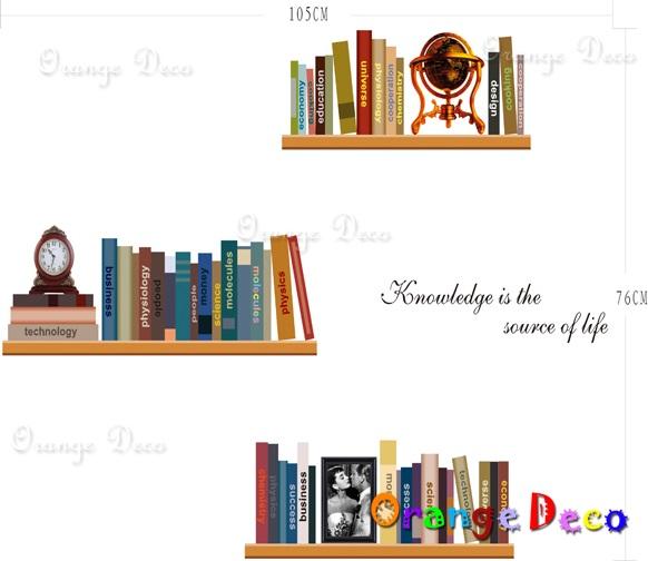 【橘果設計】書架 DIY組合壁貼 牆貼 壁紙 無痕壁貼 室內設計 裝潢 裝飾佈置