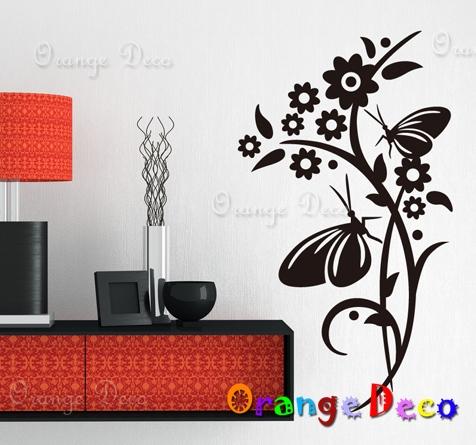 【橘果設計】蝴蝶戀花 DIY組合壁貼 牆貼 壁紙 無痕壁貼 室內設計 裝潢 裝飾佈置