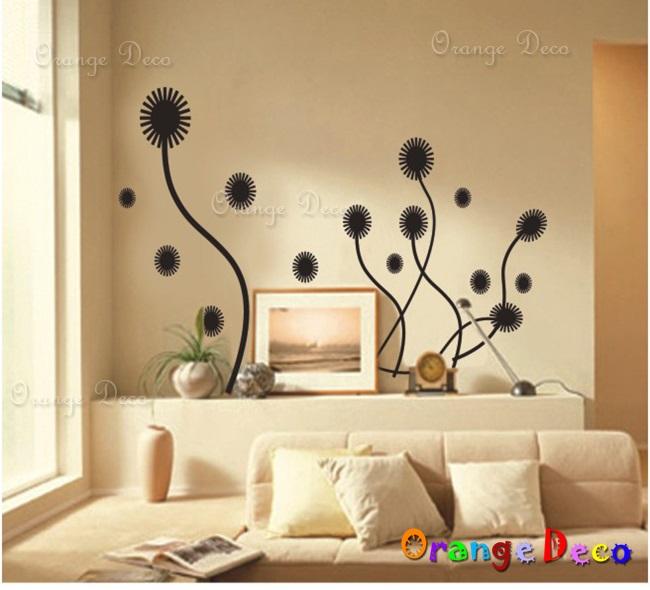 【橘果設計】藝術花 DIY組合壁貼 牆貼 壁紙 無痕壁貼 室內設計 裝潢 裝飾佈置