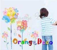 【橘果設計】油畫花卉 DIY組合壁貼 牆貼 壁紙 無痕壁貼 室內設計 裝潢 裝飾佈置
