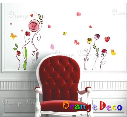 【橘果設計】藝術花卷 DIY組合壁貼 牆貼 壁紙 無痕壁貼 室內設計 裝潢 裝飾佈置