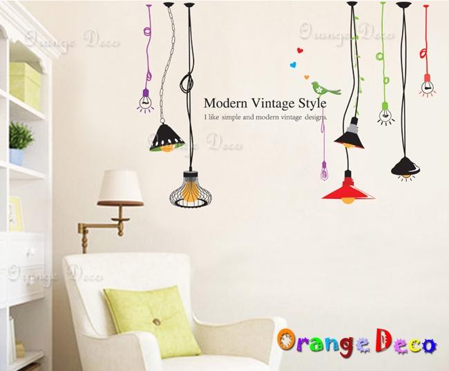 【橘果設計】摩登吊燈 DIY組合壁貼 牆貼 壁紙 無痕壁貼 室內設計 裝潢 裝飾佈置