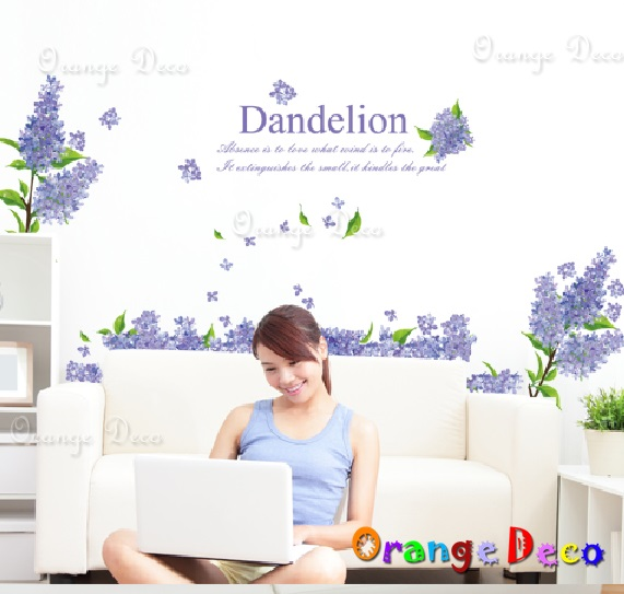 【橘果設計】紫色薰衣草 DIY組合壁貼 牆貼 壁紙 無痕壁貼 室內設計 裝潢 裝飾佈置