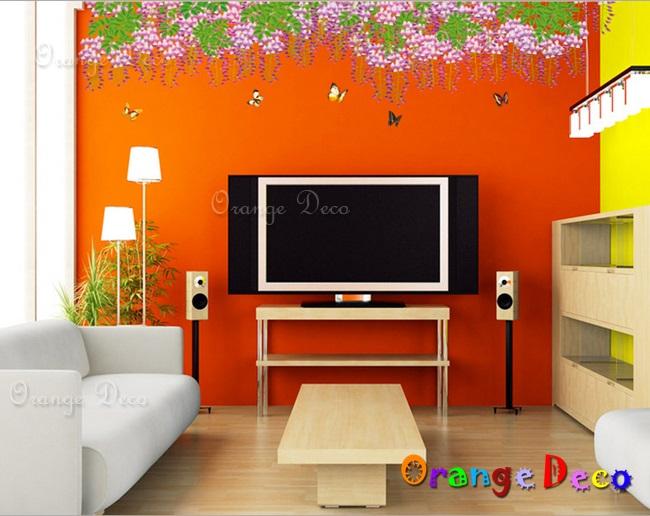 【橘果設計】中國風孔雀羽裳 DIY組合壁貼 牆貼 壁紙 無痕壁貼 室內設計 裝潢 裝飾佈置