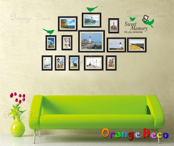 【橘果設計】風景相框 DIY組合壁貼 牆貼 壁紙 無痕壁貼 室內設計 裝潢 裝飾佈置