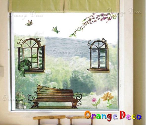 【橘果設計】窗外風景 DIY組合壁貼 牆貼 壁紙 無痕壁貼 室內設計 裝潢 裝飾佈置