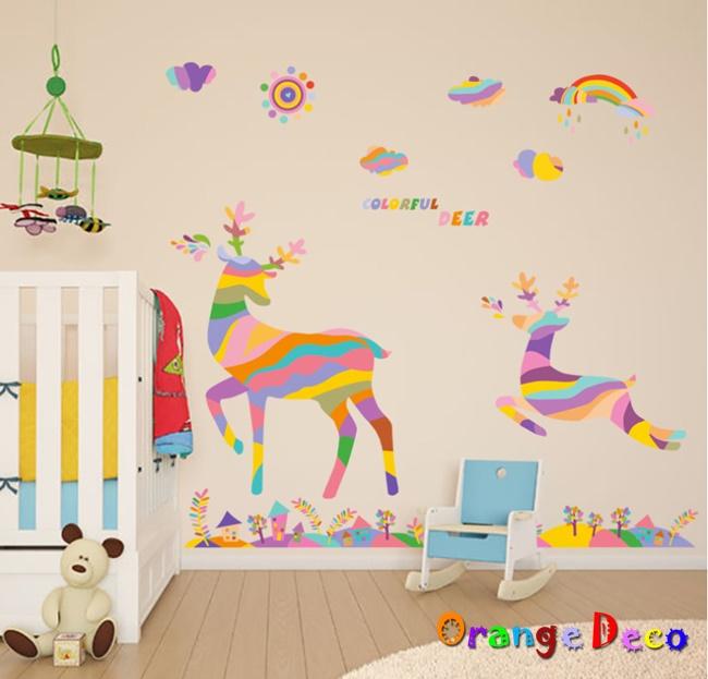 【橘果設計】麋鹿 DIY組合壁貼 牆貼 壁紙 無痕壁貼 室內設計 裝潢 裝飾佈置