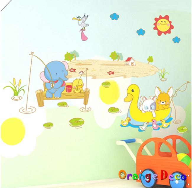 【橘果設計】划船 DIY組合壁貼 牆貼 壁紙 無痕壁貼 室內設計 裝潢 裝飾佈置