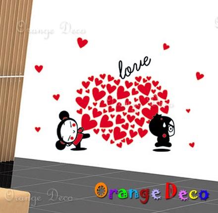 【橘果設計】愛心娃娃 DIY組合壁貼 牆貼 壁紙 無痕壁貼 室內設計 裝潢 裝飾佈置