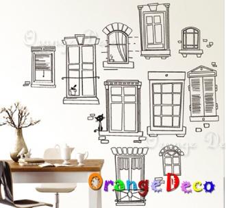 【橘果設計】假窗 DIY組合壁貼 牆貼 壁紙 無痕壁貼 室內設計 裝潢 裝飾佈置
