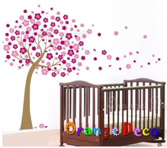 【橘果設計】梅花樹 DIY組合壁貼 牆貼 壁紙 無痕壁貼 室內設計 裝潢 裝飾佈置
