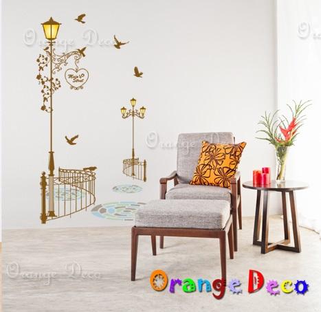 【橘果設計】街道路燈 DIY組合壁貼 牆貼 壁紙 無痕壁貼 室內設計 裝潢 裝飾佈置
