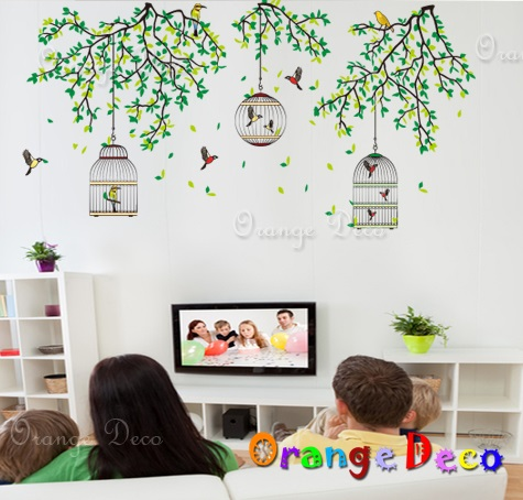 【橘果設計】鳥籠 DIY組合壁貼 牆貼 壁紙 無痕壁貼 室內設計 裝潢 裝飾佈置