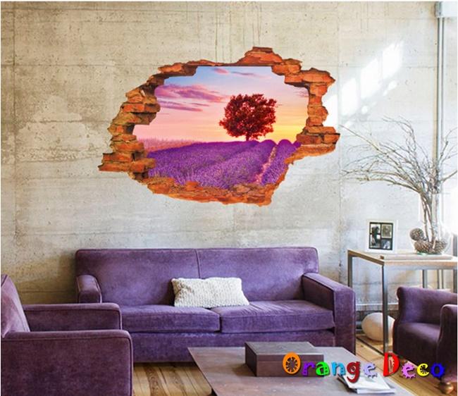 【橘果設計】窗外普羅旺斯 DIY組合壁貼 牆貼 壁紙 無痕壁貼 室內設計 裝潢 裝飾佈置