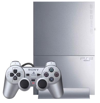 mini PS2主機(緞布銀)/SCPH-90007SS