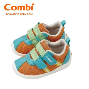 【安琪兒】日本【Combi】 2016 新款機能鞋--微風暖洋-日出橘