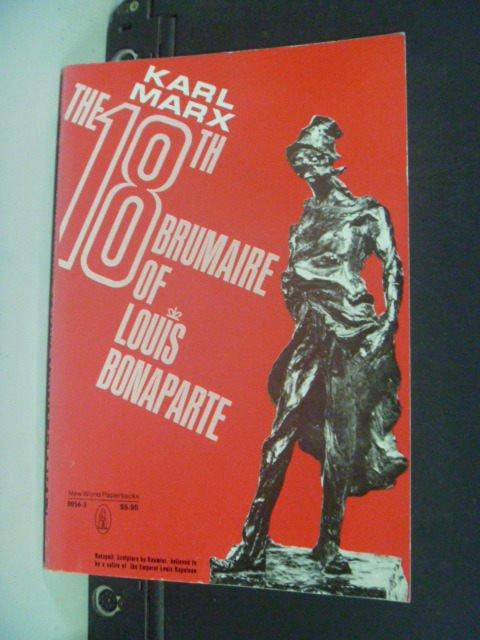 【書寶二手書T2/原文小說_GBW】Eighteenth Brumaire of Louis Bonaparte