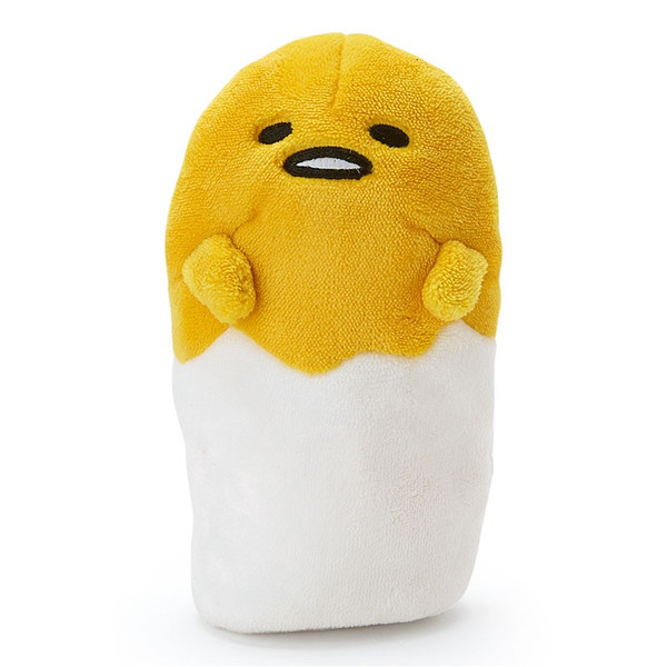 【真愛日本】16031100009可立座絨毛筆袋化妝包-GU   蛋黃哥 三麗鷗 鉛筆盒 鉛筆袋 文具用品 收納