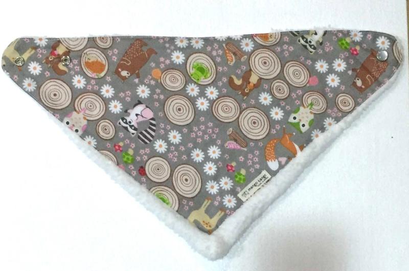 『韓國代購品』mango tango 寶寶貓頭鷹加絨加厚保暖三角巾圍巾口水巾 韓國製