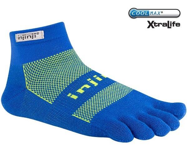 Injinji RUN 吸濕排汗五指短襪/五指襪/跑步襪 Coolmax 跑步越野系列 OW Mini-crew 電子藍