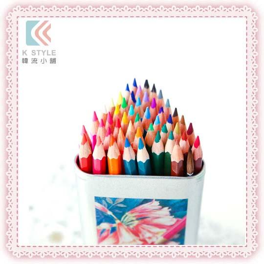 48色水彩色鉛筆 (立體三角鐵盒裝)