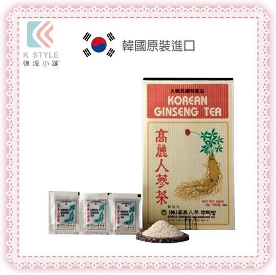 【 韓流小舖 】高麗 人蔘茶 3g×100包 過年送禮 母親節 禮品 禮盒 招待