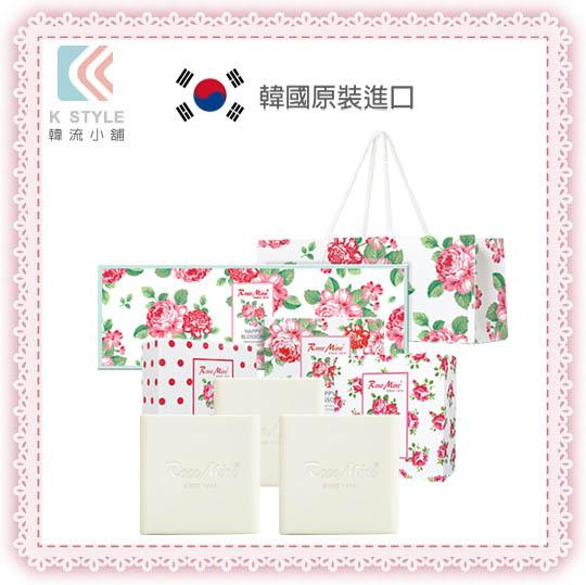 【EVAS】 玫瑰香水香皂禮盒 三入組 (附提袋)