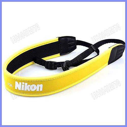 攝彩@For Nikon 尼康 數位相機專用減壓背帶,黃色版【防滑設計,寬版加厚設計】單眼相機肩帶-20604