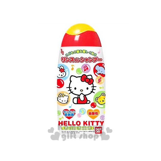 〔小禮堂〕Hello Kitty 日製兒童潤絲洗髮精《白.泡泡.小動物.花香》容量150ml