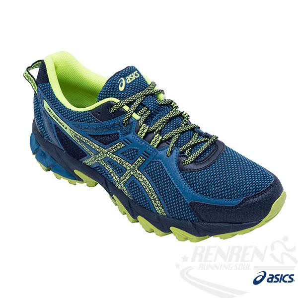 ASICS亞瑟士 男越野慢跑鞋 GEL-SONOMA 2 (深藍*黃)