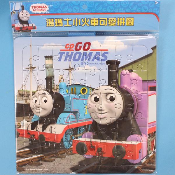 湯瑪士小火車拼圖 小40片拼圖 TQ004 幼兒卡通拼圖(中方形/加厚)MIT製/一組入{促80}~正版授權~