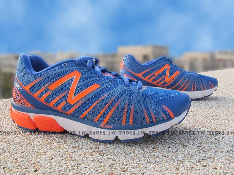 《超值6折》Shoestw【M890BO5】NEW BALANCE 專業慢跑鞋 藍橘 透氣布 男款