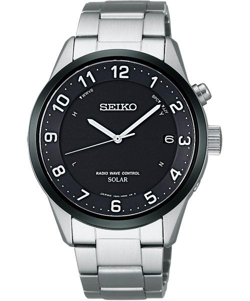 Seiko 7B24-0AS0D(SBTM177J1)太陽能計時電波腕錶/黑面39mm