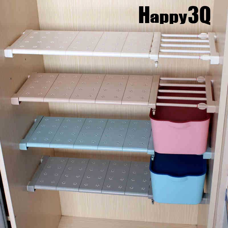置物架整理架衣櫃收納分層隔板櫃子櫥櫃浴室層架隔層架長寬多規格可伸縮-多色【AAA0366】