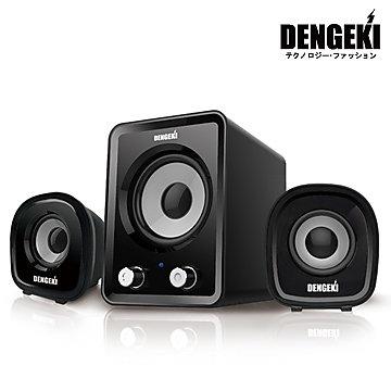 【迪特軍3C】電擊DENGEKI2.1聲道USB多媒體喇叭 冷光電源指示 高音質 重低音與音量控制