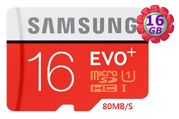 SAMSUNG 16GB 16G microSDHC【PLUS 80MB/s】micro SD SDHC microSD UHS-I UHS U1 C10 原廠包裝 手機記憶卡 記憶卡