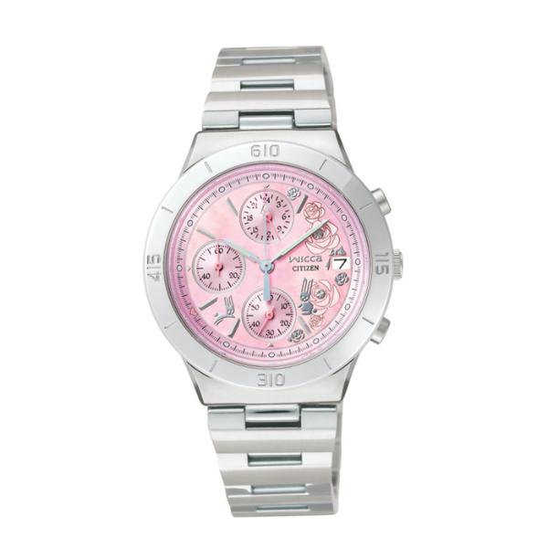 CITIZEN星辰WICCA(FA1006-50X)粉紅玫瑰時尚腕錶/粉紅面32mm