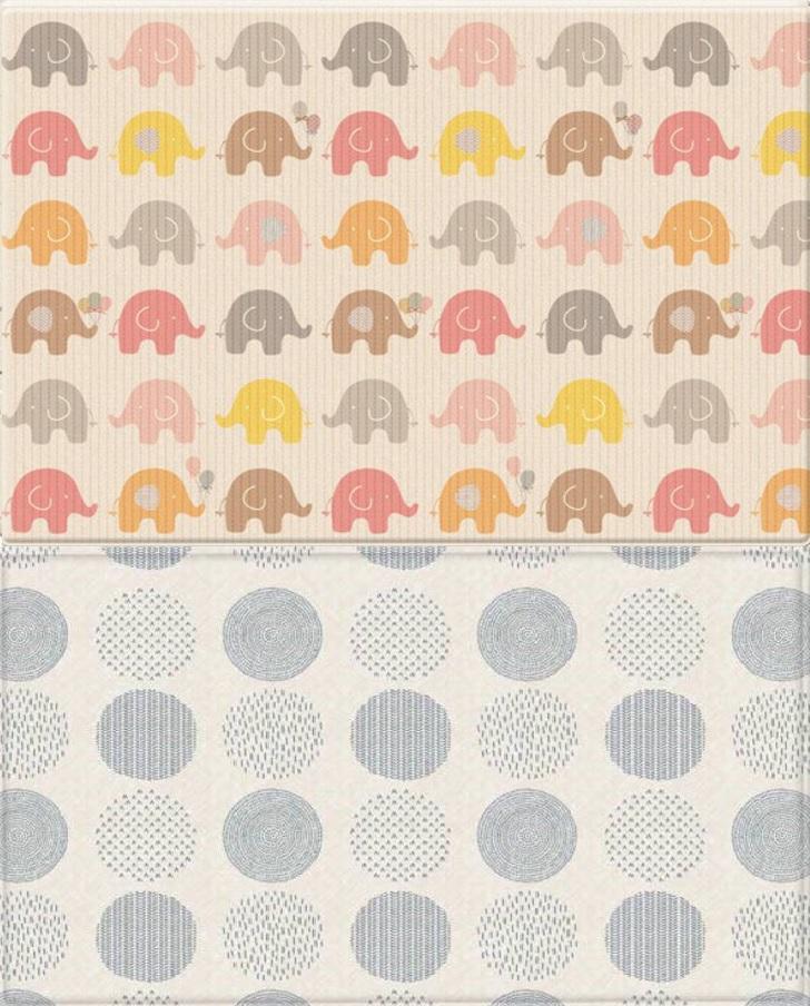 【淘氣寶寶】【原裝進口】【現貨】韓國 Parklon帕龍-PVC雙面包邊地墊(遊戲墊)泡泡遊戲大象(210*140*4公分)