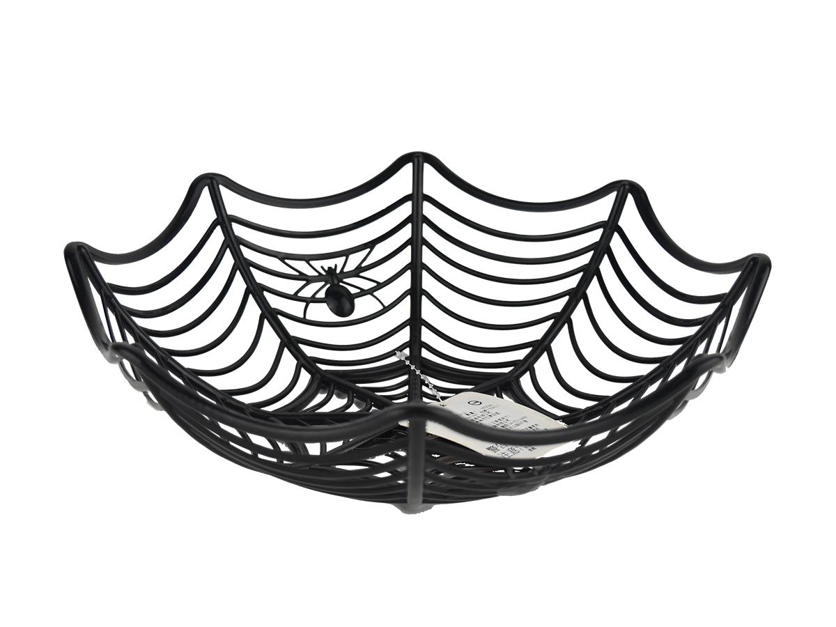 X射線【W396809】蜘蛛網造型糖果盆(隨機出貨),萬聖節/提袋/佈置/裝飾/擺飾/會場佈置/糖果籃/交換禮物/糖果袋/南瓜袋/水果籃