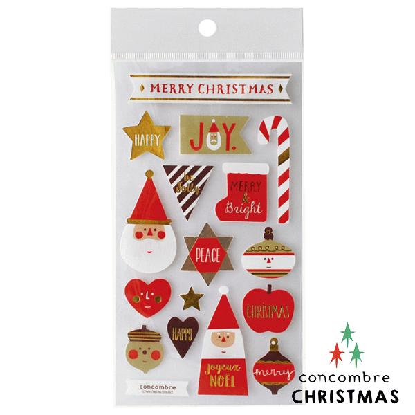 【聖誕節限定版】日本裝飾貼紙 / 聖誕卡素材 -  Concombre 聖誕老公公 ( ZXS-48101 )