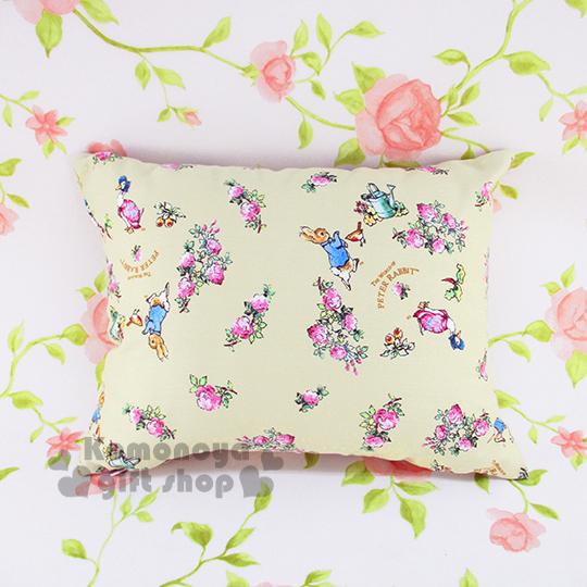 〔小禮堂〕彼得兔 長方型抱枕《小.黃.花朵滿版》可抱.可躺.可靠